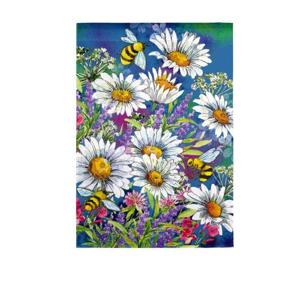 Watercolor Daisies Garden Flag