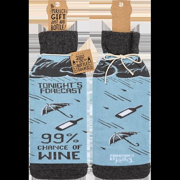 99% Chance Of Wine Bottle Sock