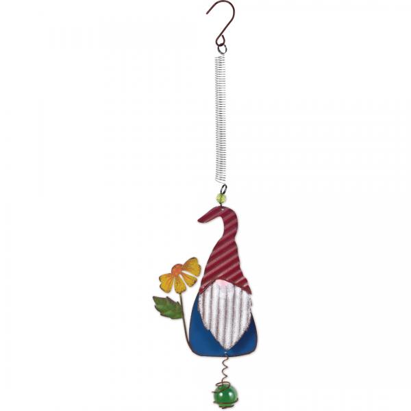 Blue Gnome w/flower Bouncy