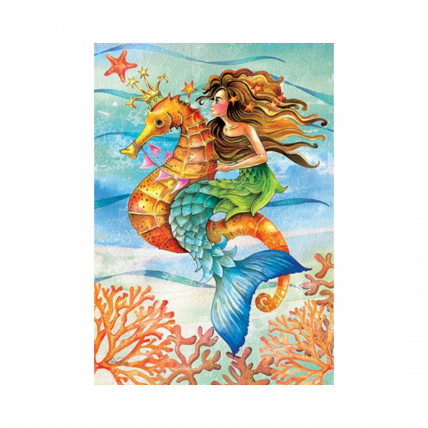 Mermaid Seahorse Garden Flag