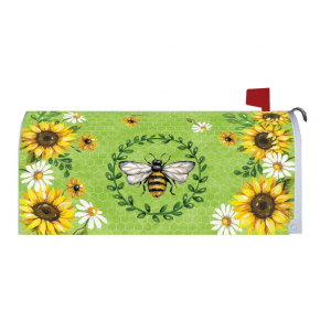 Bumble Bee & Sunflowers Mailbox Cover