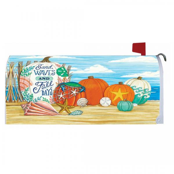 Fall Beach Mailbox Cover