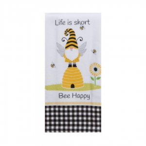 Life is short bee happy towel
