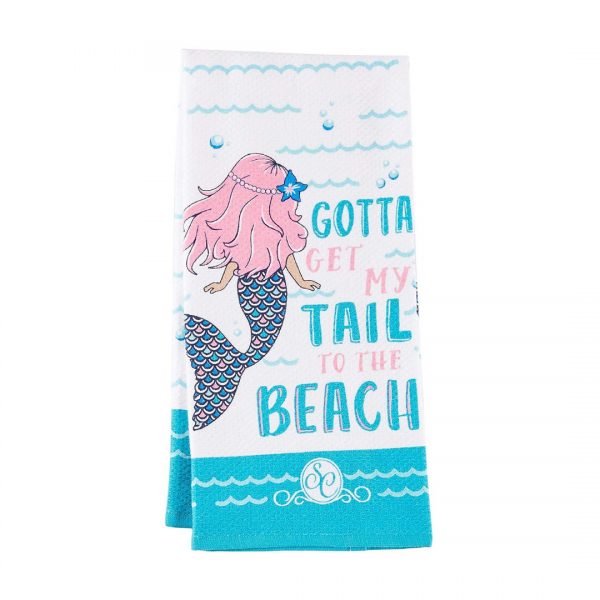Mermaid Tail to Beach Towel