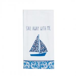 Sail Away with me dish towel