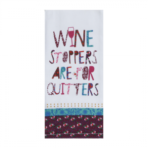 Wine stoppers are for quitters