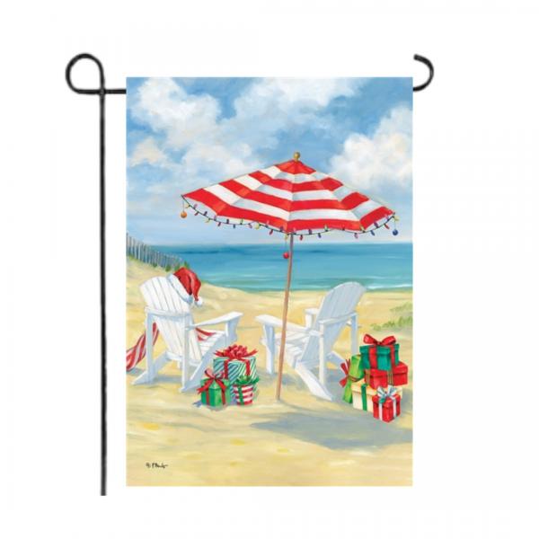 Christmas Beach Garden Flag