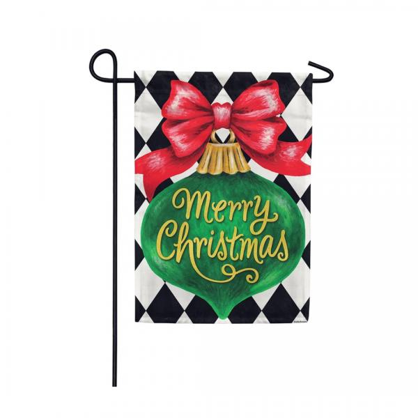 Christmas Ornament Garden Flag