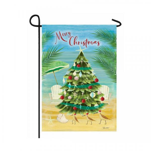Coastal Christmas Garden Flag