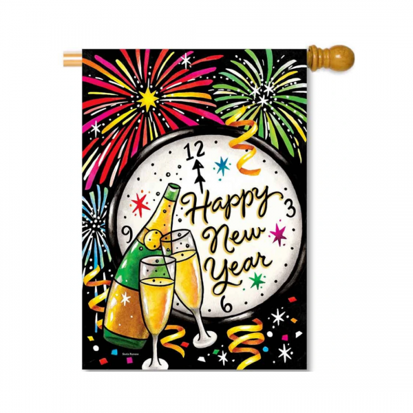 Happy New Year House Flag