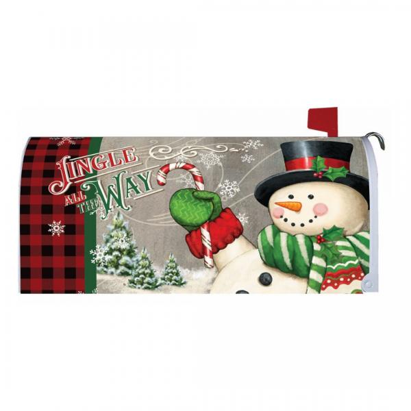 Jingle Snowman Mailbox Cover