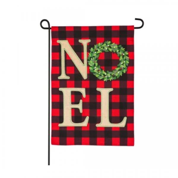 Noel Wreath Garden Flag