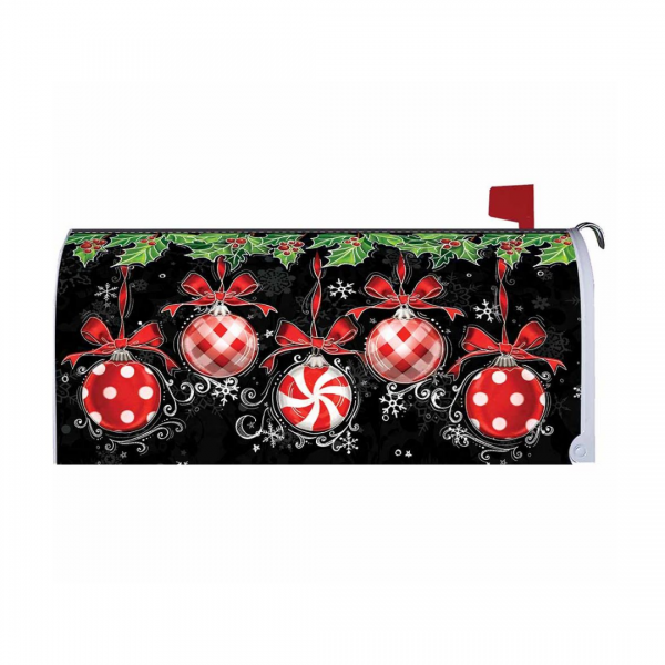 Ornaments on Black Mailbox Cover