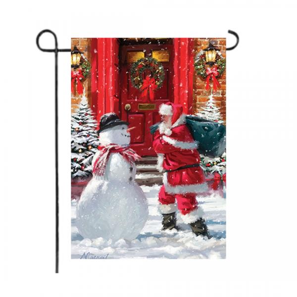 Santa & Snowman Garden Flag