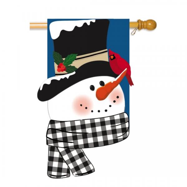 Snowman & Friend House Flag