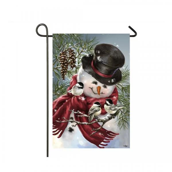 Snowman & Snuggles Garden Flag