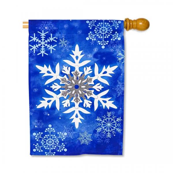 Winter Snowflakes House Flag
